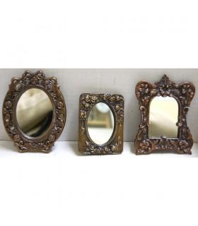 Jeu de 3 miroirs de bronze - 2 couleurs