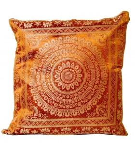 Almofada de seda acolchoada - 40 cm - Cores - Design árabe