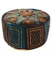 Two-tone Puff Leather - Arab Mosaic Design - Craftsman - Model Aswad