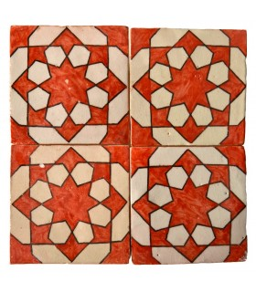 Azulejo Andalusí - 10 cm - Various Designs- Handcrafted- Model 64