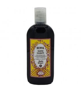 Champú De Henna - Colorante - Con Extractos Naturales De Henna Y Manzanilla - Cabello Negro - Radhe Shyam- 250 ml