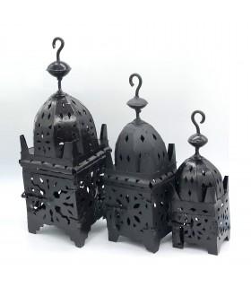 Lanterna quadrada de ferro para vela - 3 tamanhos - novidade