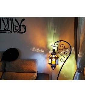 Gancho de Pie Para Lámparas - Hierro Forjado - Diseño Arabe