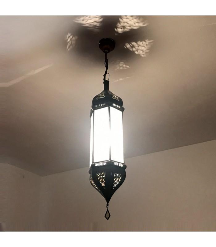Lámpara Alargada Blanco Opaco - 60 cm - Modelo Katra