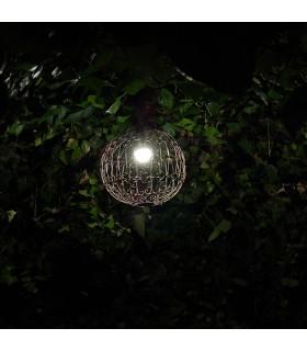 Lámpra Esfera Celosía Forja - Exerior - Ideal Jardín - Modelo Asjar