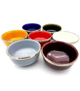 Schale Keramik - dekorierten Alpaka - verschiedene Farben - Modell 1