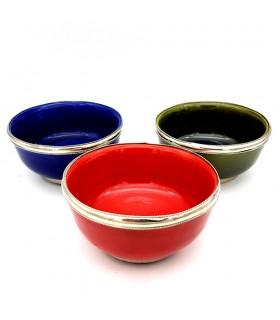Bowl ceramic - decorated Alpaca - various colors - model 1