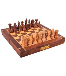 Folding Wood Chess - Handmade Chips - Akla Model