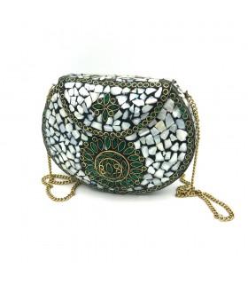 White Party Bag - Nacar Ceramic Bronze - Modello Abiad