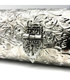 Bolso Fiesta Níquel - Diseño Floral - Modelo Warka