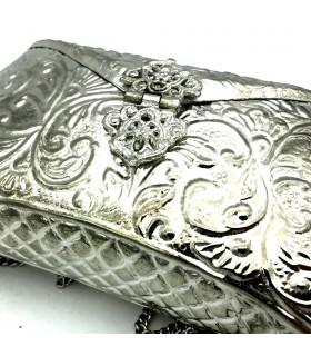 Bolso Fiesta Níquel - Diseño Floral - Modelo Abiad