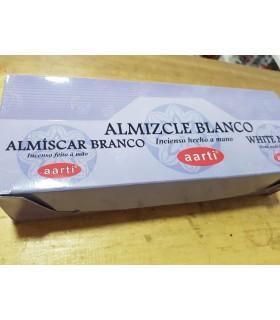 Incienso Aarti - Almizcle Blanco - Hecho a Mano - 20 Varillas