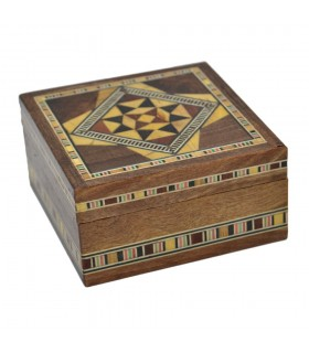 Square Box - Taracea Syria - 7 x 7 cm - Model ALEPO