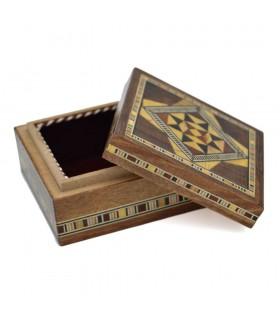 Caja Cuadrada - Taracea Siria - 7 x 7 cm - Modelo A L E P O