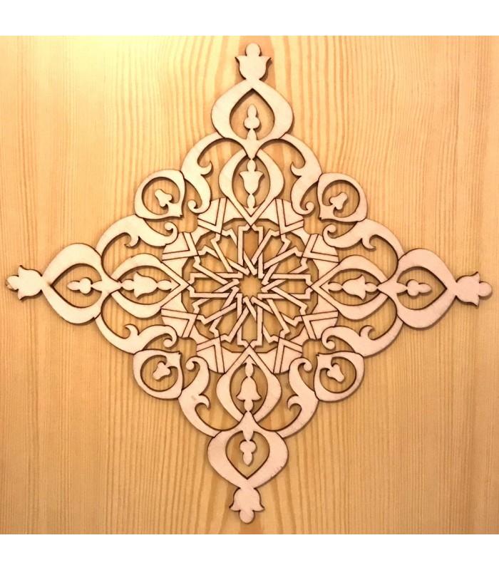 celosia arabe calada madera corte por laser modelo 6