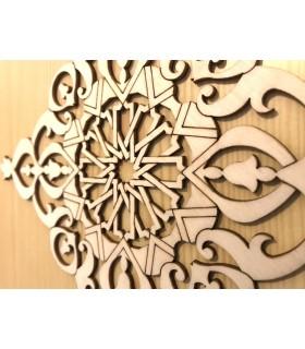 Celosia Arabe Calada - Madera Corte por Laser - Modelo 6 - 25 x 25 cm