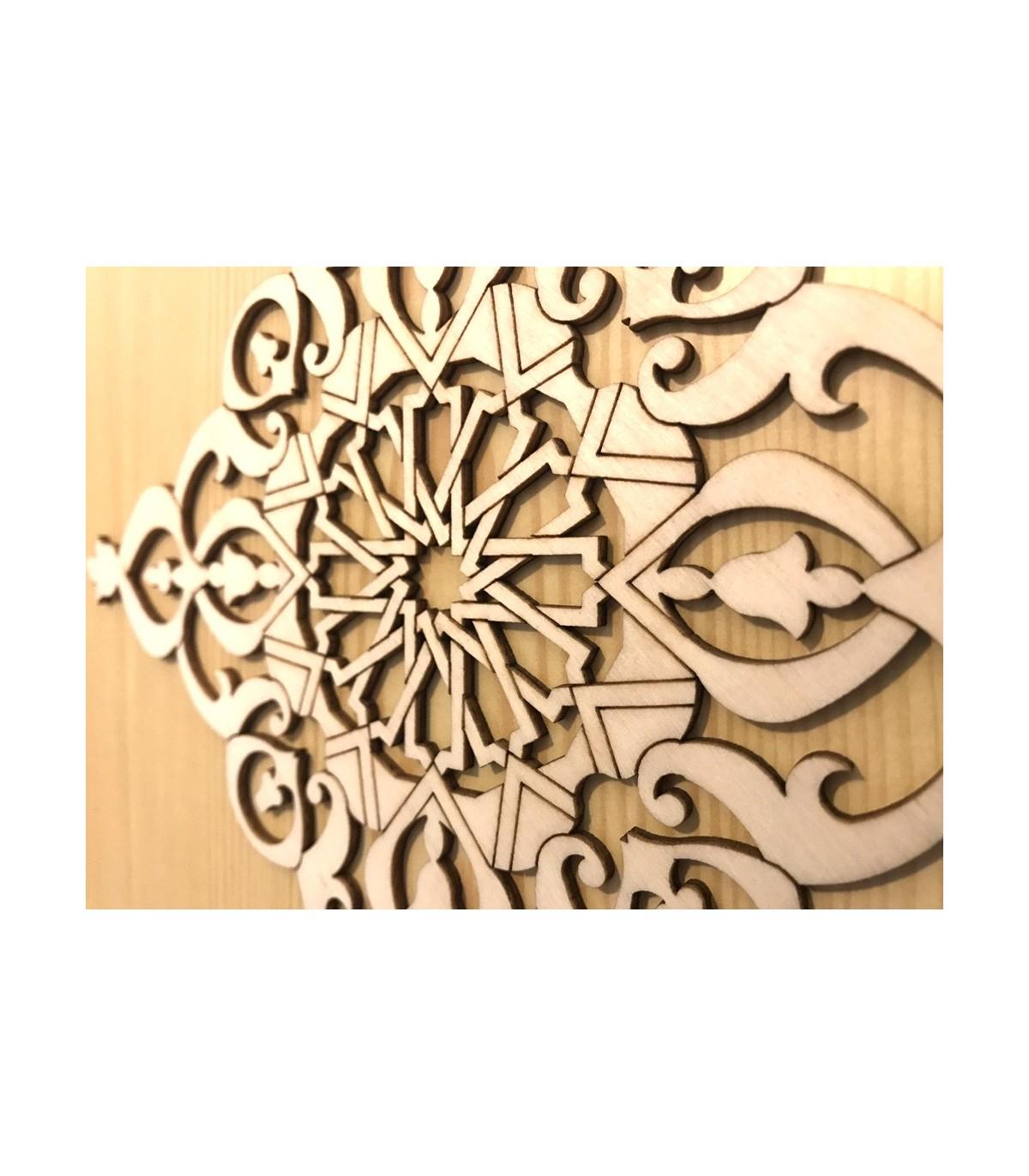 Celosía Árabe Calada - Madera Corte Láser - Modelo 6-25 x 25 cm Online
