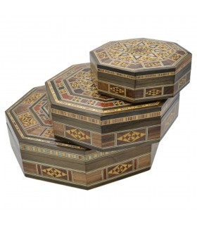 Set 3 Scatole ottagonali - Inlay SYRIA - Modello DAMASCO