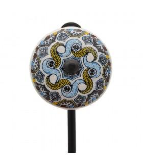 Percha Forja y Cerámica - Diseño Floral - Modelo Kazajistán