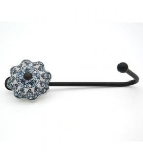 Forge and Ceramic Hanger - Floral Design - Turkey Model
