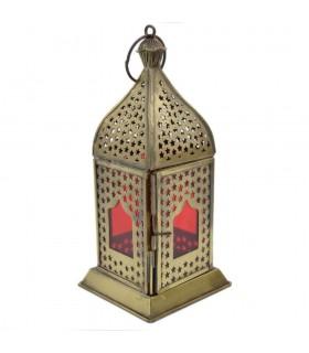 Farolillo Arabe - Diseño Estrellas Caladas - Modelo Agra - 19 cm