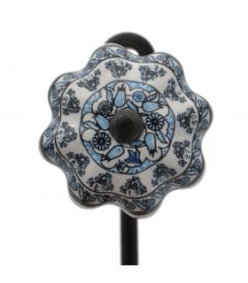 Percha Forja y Cerámica - Diseño Floral - Modelo Turquía