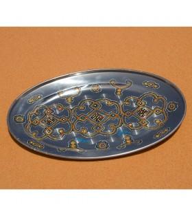 Mauretanischen Tee Tablett gemalt Hand - ethnische - 2 Größen
