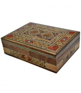 Rectangular Box Taracea Syria - Mosaic Design - Model Latakia - 20 cm