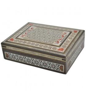 Caja Taracea Rectangular - Siria - Modelo Mayadin - 18 cm