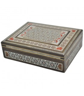 Rectangular Marquetry Box - Syria - Mayadin Model - 18 cm