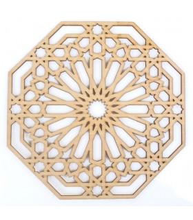 Celosia Arabe Calada - Madera Corte por Laser - Modelo 8 - 20 x 20 cm