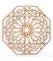 Celosía Árabe Calada - Madera Corte por Láser - Modelo 8 - 20 x 20 cm