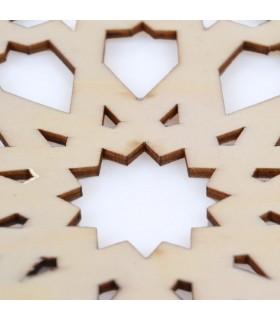 Celosia Arabe Calada - Posa Vasos - Madera Corte por Laser - Modelo 9 - 10 cm