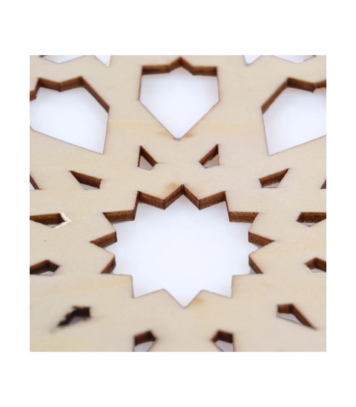 Arab Lattice Openwork - Glass Beaker - Wood - Model 9 - 10