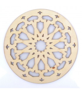 Arabic Openwork Celosia - Glasses - Laser Cut Wood - Model 9 - 10 cm