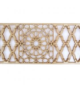 Celosia Arabe Calada - Madera Corte por Laser - Modelo 10 - 50 cm