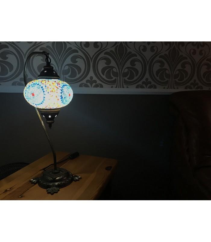Lámpara Turca Mesita de Noche - Modelo Cisne - 17 cm