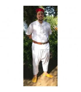 Traje Completo Aladino - Gorro Moro Pantalón Bombacho Babucha