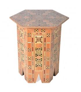 Juego 3 Mesas Taracea Hexagonal - S I R I A - Modelo TAWILAAT