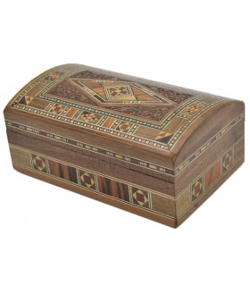 Baul Taracea Siria - Top in legno intagliato - 14 cm