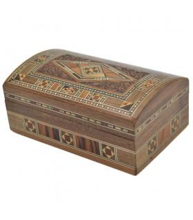 Baul Taracea Syria - Carved Wood Top - 14 cm