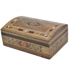 Baul Taracea Syria - Carved Wood Top - 15 cm