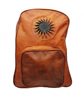 Leather Backpack - 3 Pockets - 100% Leather - Model SOL