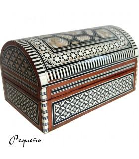 Marqueterie de tronc - velours - boîte bijoux Egypte - 2 tailles
