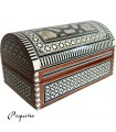 Jewelry box trunk - velvet - marquetry Egypt - 2 sizes