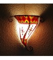 Natural Leather Wall Lamp - Painted with Henna - Model IBERIA