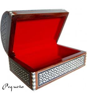 Marchetaria de tronco - veludo - jóias caixa Egipto - 2 tamanhos