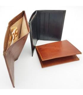 Porta carte di credito per uomo - 100% pelle naturale - Modello TAKA