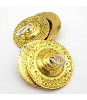 Arab castanets or crotalos - Finger cymbals - Bronze