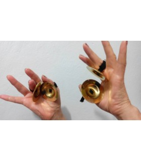 Castañuelas o crotalos Arabes - Platillos de dedo - Bronce